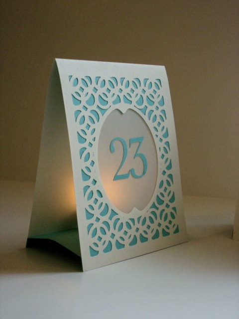 Table numbers... I love this!!!