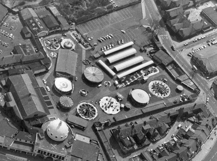 The Spanish City amusement park in Whitley Bay - Aerial view of the site