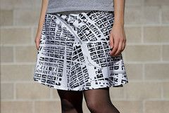 So cool! Create a skirt or tank top with your actual address in map form printed on it.