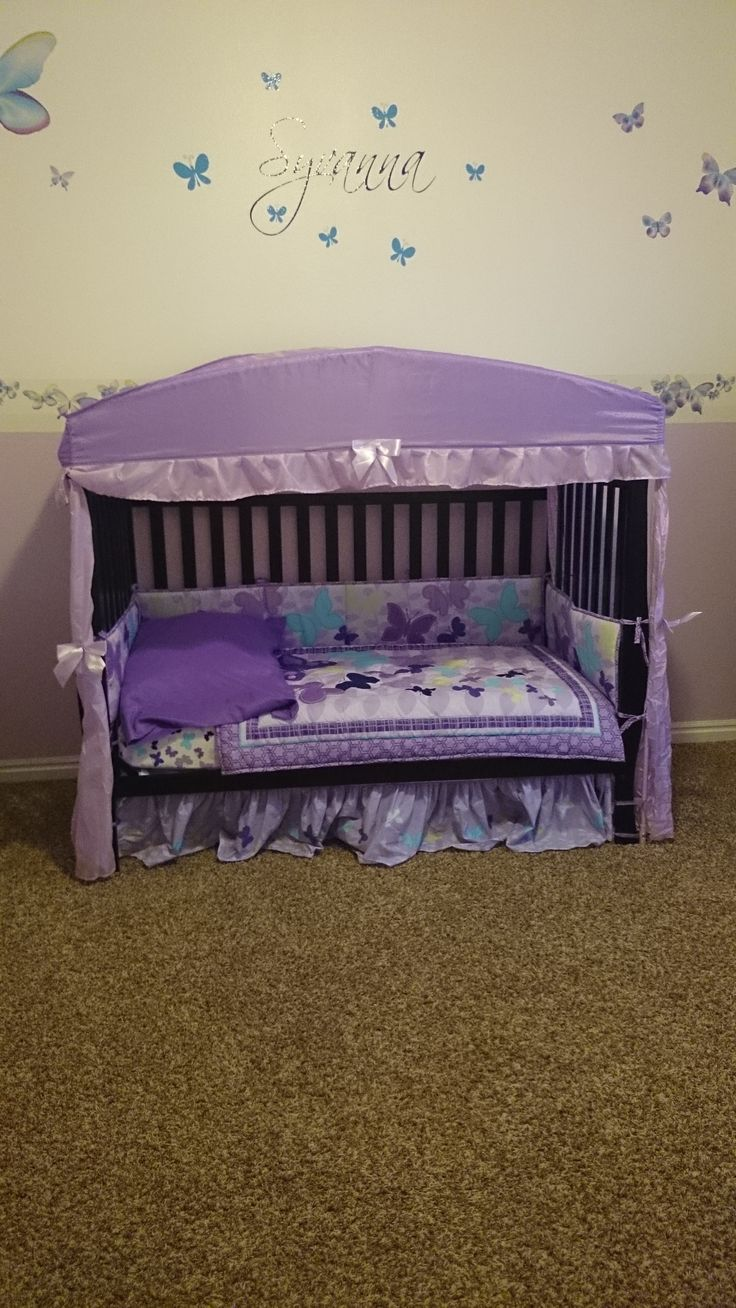 Baby bed for two year old - Toddler Bed Converted From Crib Found The Cute Canopy At Ross Butterflies And