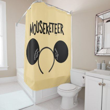 #Mickey Mouse Club Ears Shower Curtain - #Bathroom #Accessories #home #living