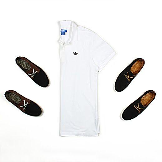 Playera tipo polo #adidas Originals y tenis marca #Reef.