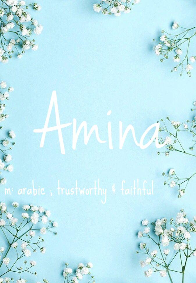 Amina - baby girl name! Pronounced: Ahh-meena #babynames #names #girlnames