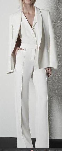 Tailleur pantalon blanc