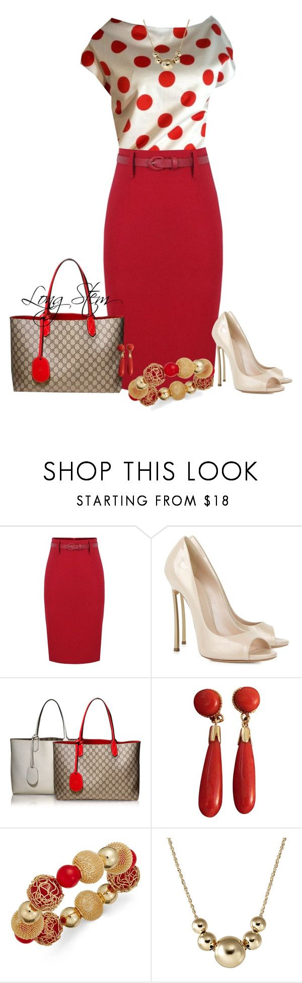 """10/18/15"" by longstem ❤ liked on Polyvore featuring Casadei, Gucci, Vintage and Style & Co."