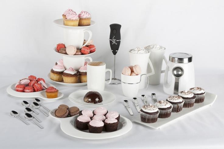 Invita tus amigos a una tarde de cupcakes, macarrones y un delicioso café