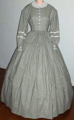 civil war dresses | Ladies 1860s Day Dress. Victorian & Civil War dress