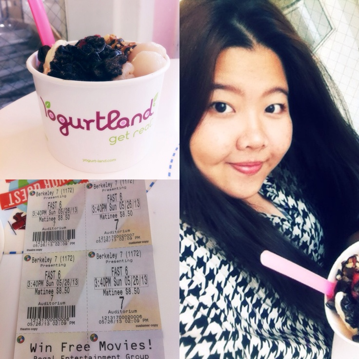 yesterday, I went to eat an ice-cream at Yogurt land and watched Fast and Furious 6 with friends. It's more fun if I understand. I'm listen rarely catch up.