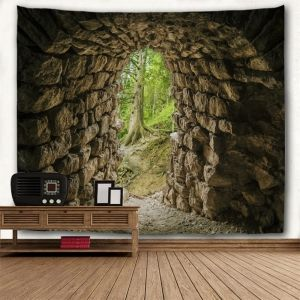 Cave Print Polyester Throw Wall Tapestry - DUN W59 INCH * L51 INCH
