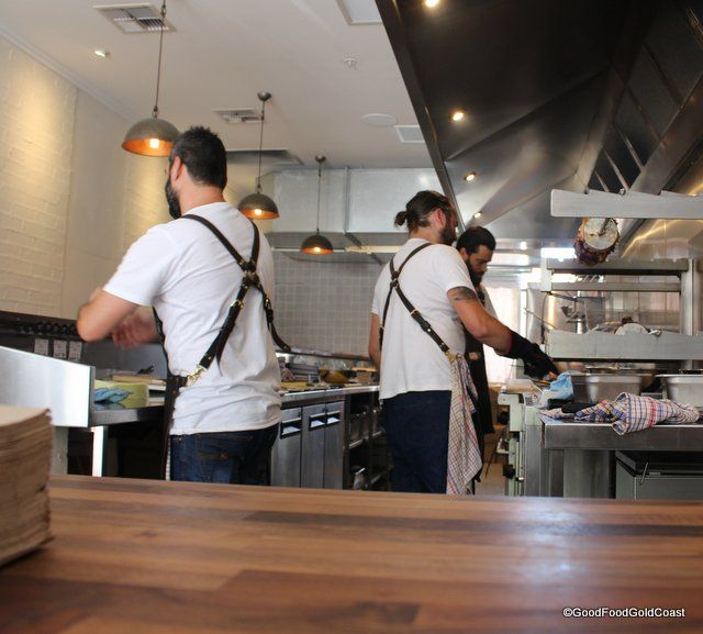Gorgeous men cooking slow 'fast food'. What's not to love at The Lamb Shop? Oracle Blvd., Broadbeach, Gold Coast.