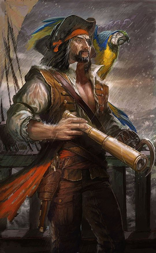 """Remembering that time I played """"Patch"""" in elementary school's """"Peter Pan""""... This is SO what I looked like. Conceptual Pirate Art by Enggar Ajar Adirasa"""