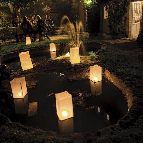 Lanterne flottante Blanche