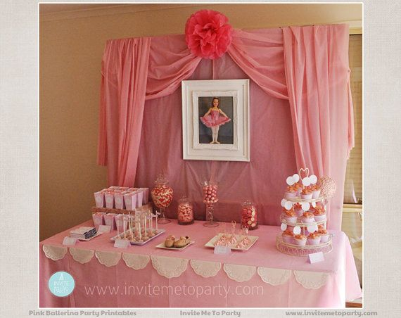 Ballerina Party Printable Decorations by InviteMe2Party on Etsy, $29.00