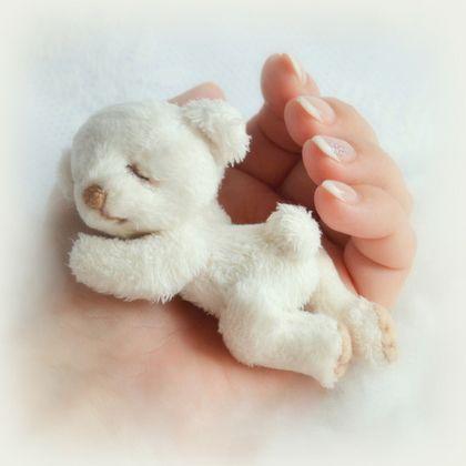 Teddy bear / Мишки Тедди ручной работы. Сплюша Зефирчик  (8 см). Голуб Таня. Ярмарка Мастеров. Тедди мишка, облако, детский