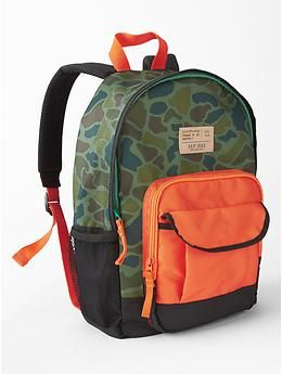 Junior printed backpack - Meet the bigger + better cool-kid accessories for every size, habit and personality.