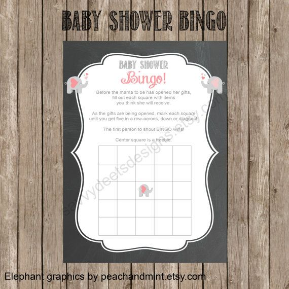 Chalkboard Baby Shower Bingo Printable by SavvyDeetsDesigns