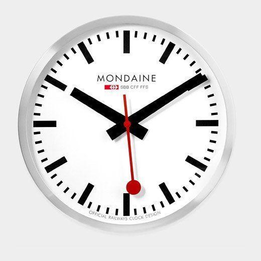 Swiss Railway Clock by Hans Hilfiker, $395