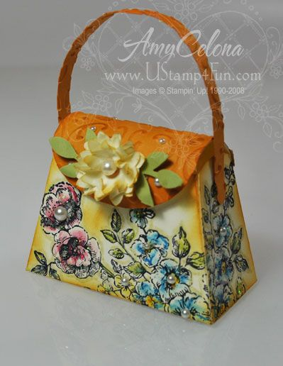Stampin' UP! Petite Purse Die - @Crystal Chou Chou Chou  Kondo @cheryl ng ng ng Hamilton We've gotta do this!