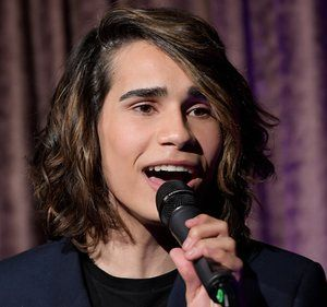 Isaiah Firebrace sings Don't Come Easy in Melbourne on Tuesday night, after being announced as Australia's Eurovision entrant.