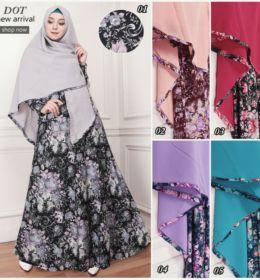 model baju-gamis-syari-jersey-motif-bunga-g1107-elegan-edisi-november-2016