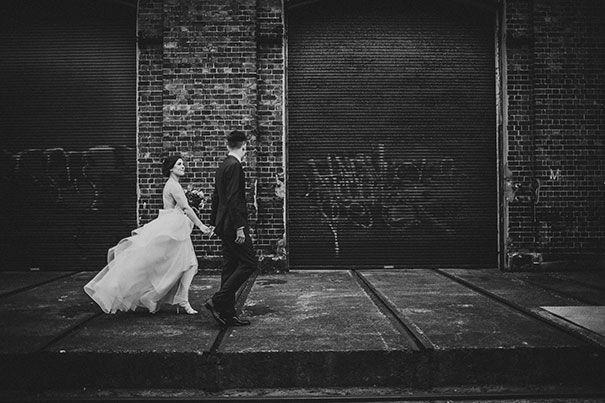 Kaitlyn + Luka's stunning minimalist Sydney wedding!   Gown: 'Selena' trains Karen Willis Holmes | Photo: Stag & Doe