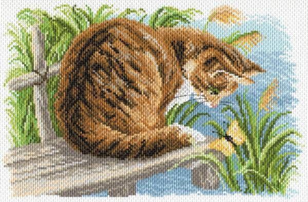 Канва с рисунком Матренин посад 1688 Любопытный котенок
