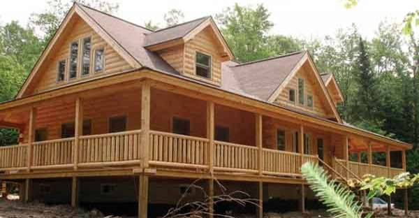 The Perfect Sized 1850 Sqft Sherwood Log Home is Breathtaking Check Out the Floor Plans