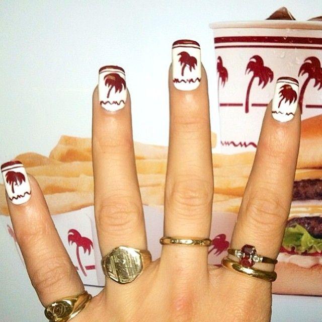 """California, incoming! (Still my favorite nails I've done!)"" Photo taken by @dollydayinn on Instagram, pinned via the InstaPin iOS App! http://www.instapinapp.com (04/10/2015)"