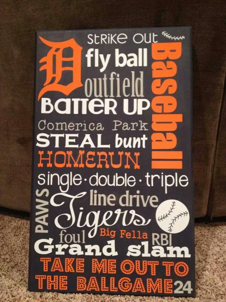 Detroit Tiger vinyl sign