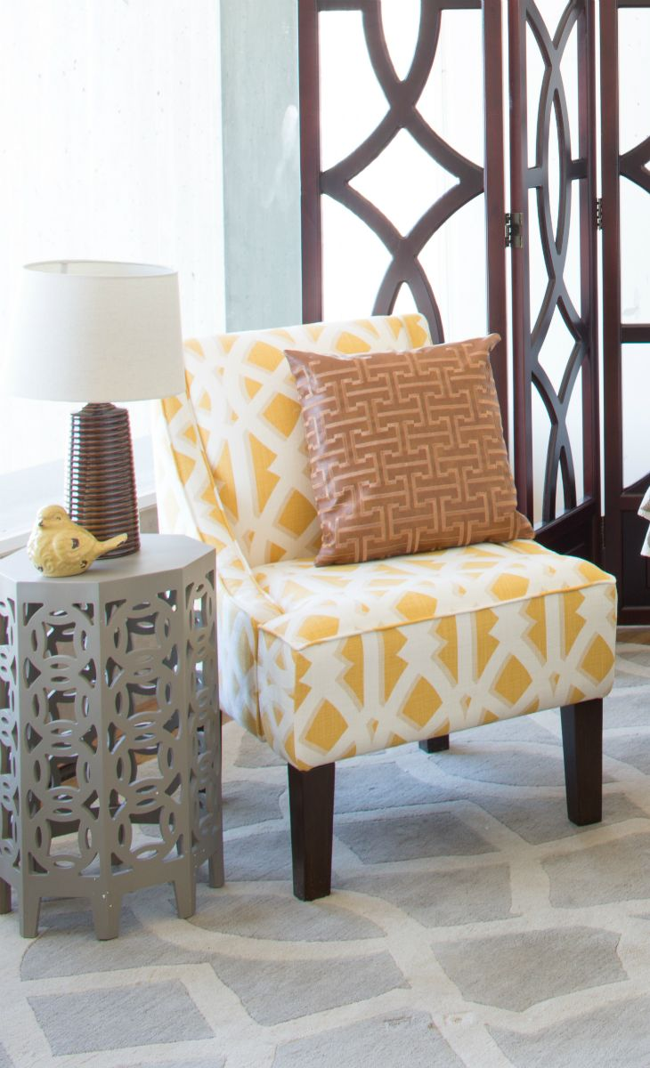 Colourful accent chairs - Just Add Yellow Joss Main Lamp And Chair Pattern
