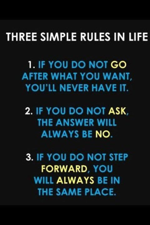 */ Three Simple Rules in Life.