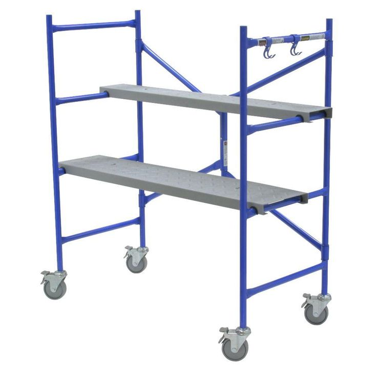 Werner 4 ft. x 3.8 ft. x 2 ft. Portable Rolling Scaffold 500 lb. Load Capacity-PS-48 - The Home Depot