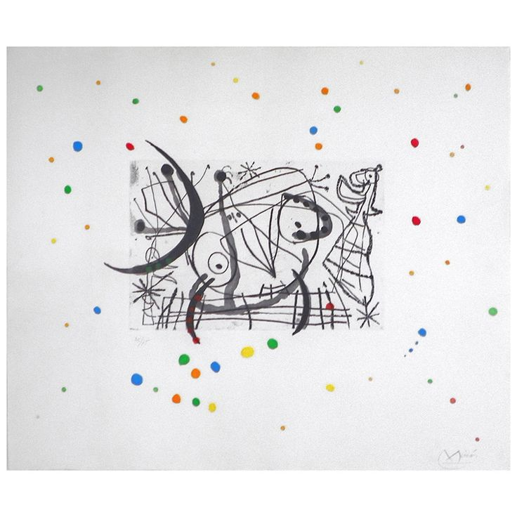 Lithograph, Joan Miro, 1960, Objects 20C, West Palm Beach