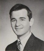 Bill Murray's 1968 senior photo in his yearbook at Loyola Academy in Wilmette, Illinois