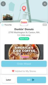 Navigational Ordering Apps  Dunkin' Donut Orders Can Now Be Made with the Navigation App Waze (hotnewstrend)