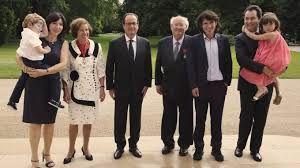 La famille Klarsfeld et le président Hollande