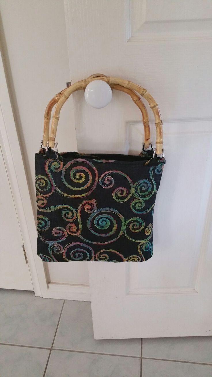 Handmade Bags with bamboo handles