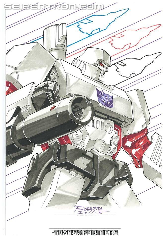 Transformers - Megatron<<<I love the Seeker silhouettes in the back!!
