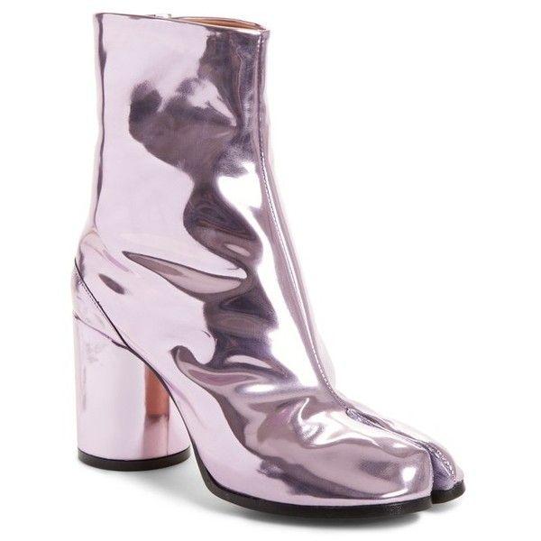 pink margiela tabi boots