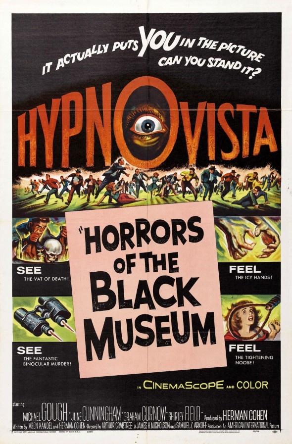 HORRORS OF THE BLACK MUSEUM50S Horror, Movie Posters, Museums 1959, Classic Horror, Black Museums, Film Posters, Horror Movie, 1950S1960S Horror, Movie Art
