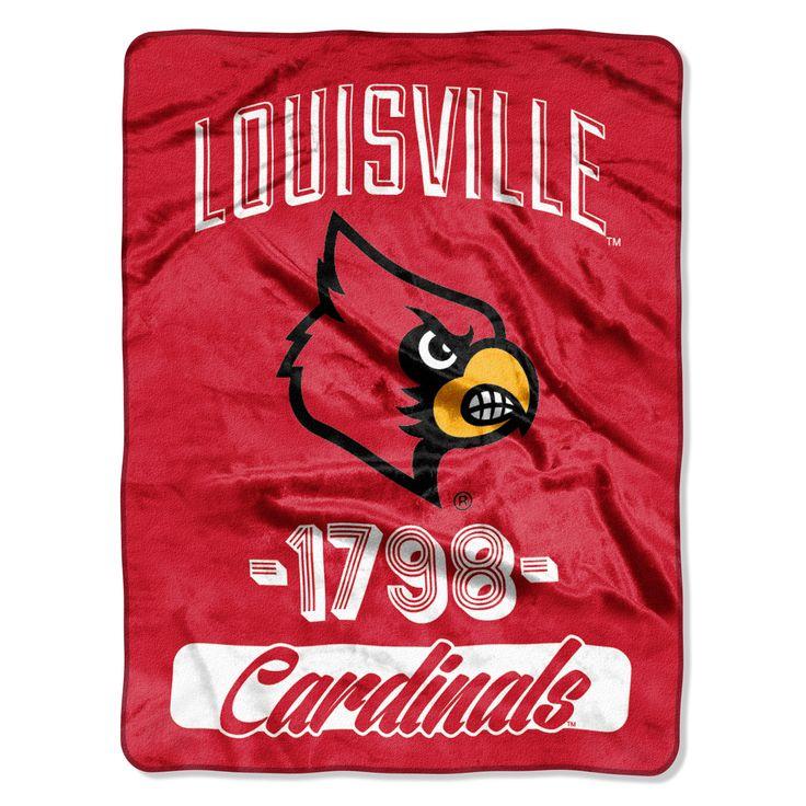 "Louisville College """"Varsity"""" 46""""x60"""" Micro Raschel Throw"