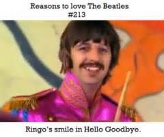 Reasons to love The Beatles #213 Ringo's smile in Hello Goodbye.