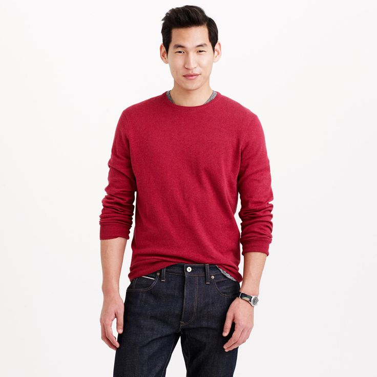 Cotton-cashmere crewneck sweater : cotton-cashmere   J.Crew