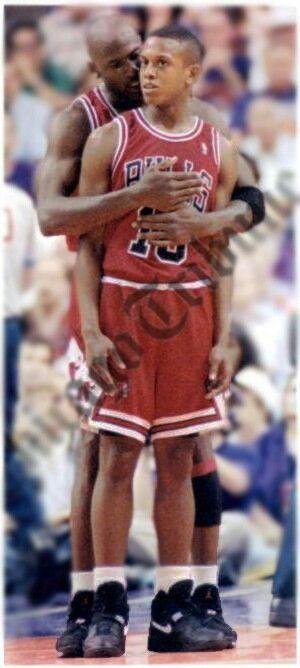 Michael Jordan and BJ Armstrong
