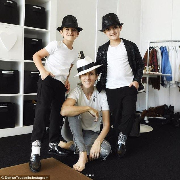 Celine Dion posts photo of her twin sons on 7th birthday | Daily Mail Online