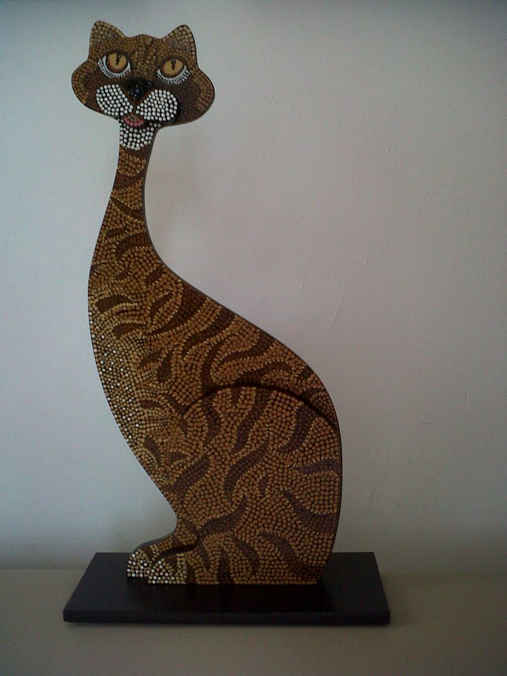 cat in pointillism / Gato en puntillismo