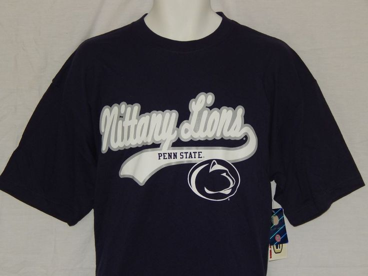 Penn State Nittany Lions Tee Shirt MENS Size Large NCAA Team Apparel PSU Logo…