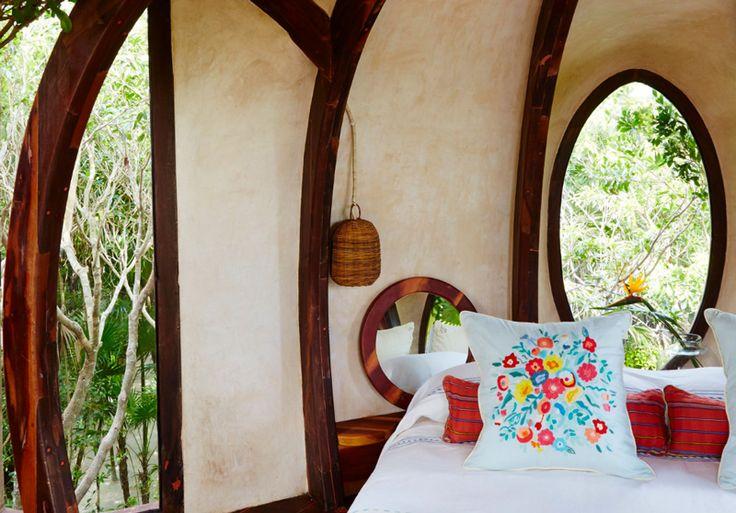 Un hotel da sogno in Messico camera da letto capanna sugli alberi