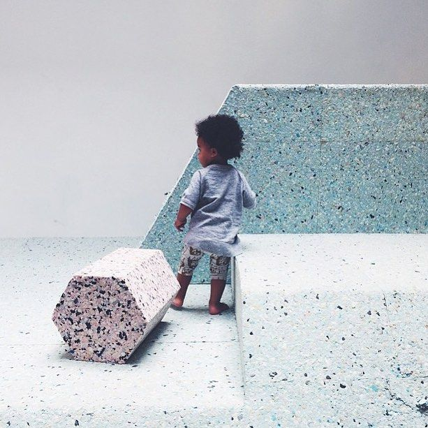 The pop up Brutalist playground at RIBA in London has been popular this summer, many Instagram photos from there and you can see why, gorgeous colour tones. This regram from @infant_art_club #brutalistplayground #RIBA #architects #design #artkids #design