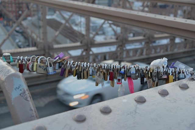 Locks on the Brooklyn Bridge